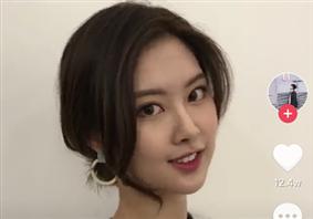 抖音韩式刘海图片 抖音流行的最火刘海